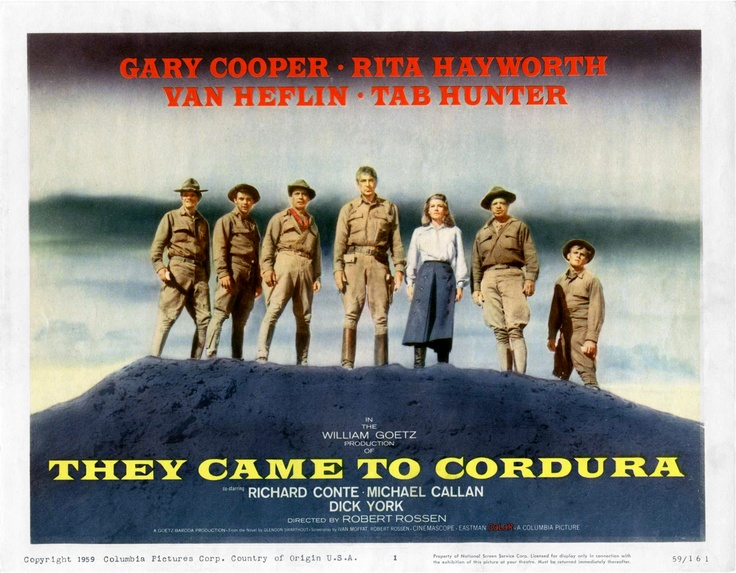 """They Came to Cordura"" (1959)"
