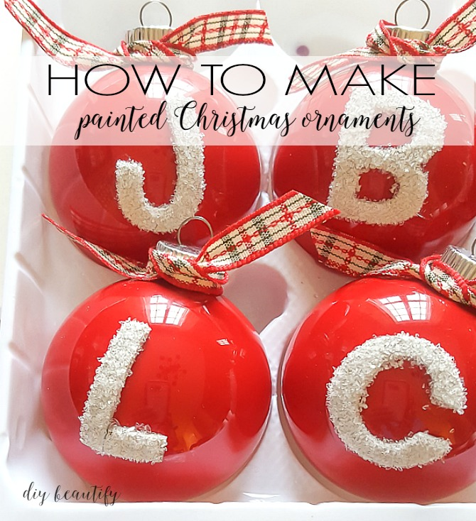 WOW! It's so easy to create fabulous and affordable painted ornaments in any color you want! You'll find the complete tutorial at diy beautify!