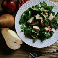 Salade de poires et à la grenade