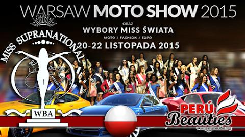 Candidatas participan en el Warsaw Expo Moto Show 2015