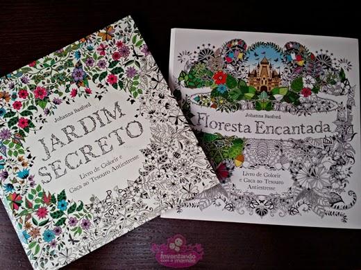 Livros Jardim Secreto e Floresta Encatada