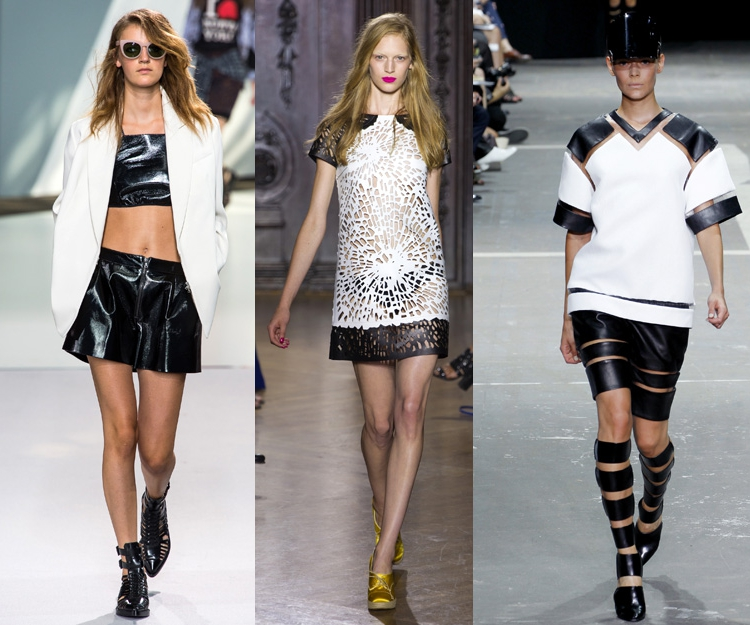 black and white spring trend