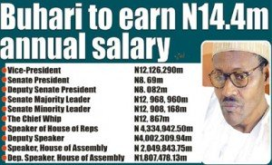 What Buhari, Osinbajo, Senators, House of Reps Will Be Earning As Salary
