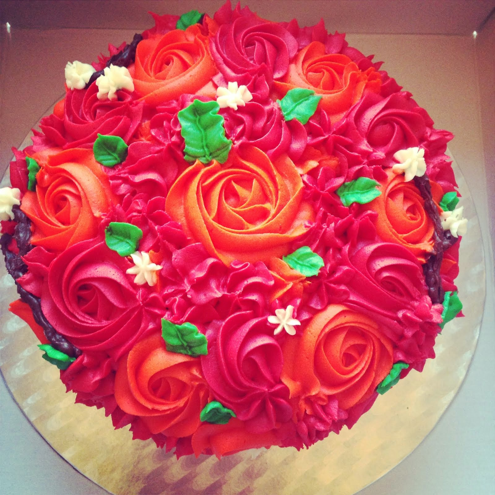 Rosette Piped Cake