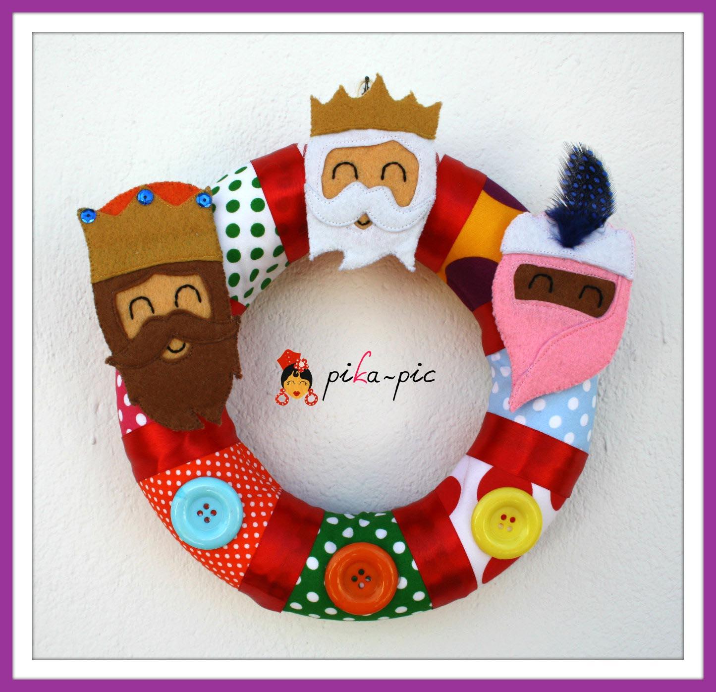 Corona de Reyes Magos para puerta