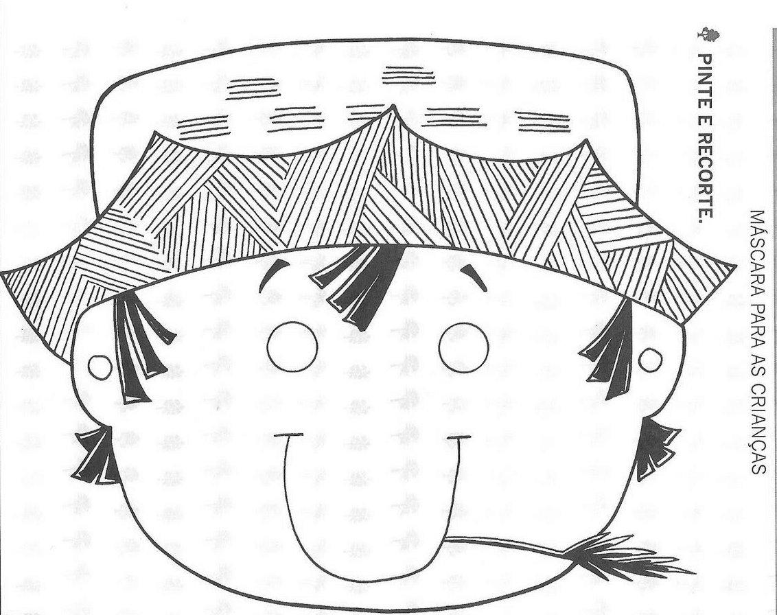 Mimos E Encantos Da Educa 199 195 O Mascaras Caipira Para