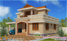 Simple Double Storied House Elevation - Kerala Home Design