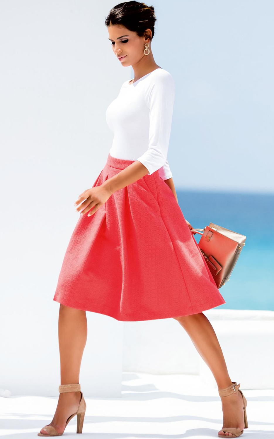 Madeleine Skirt in Coral