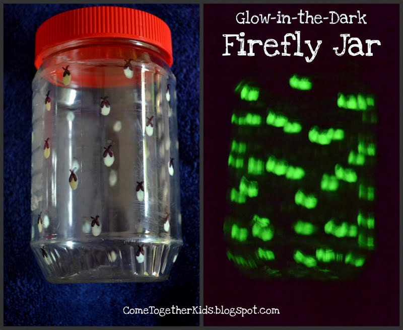 ... glow-in-the-dark paint, painted fireflies