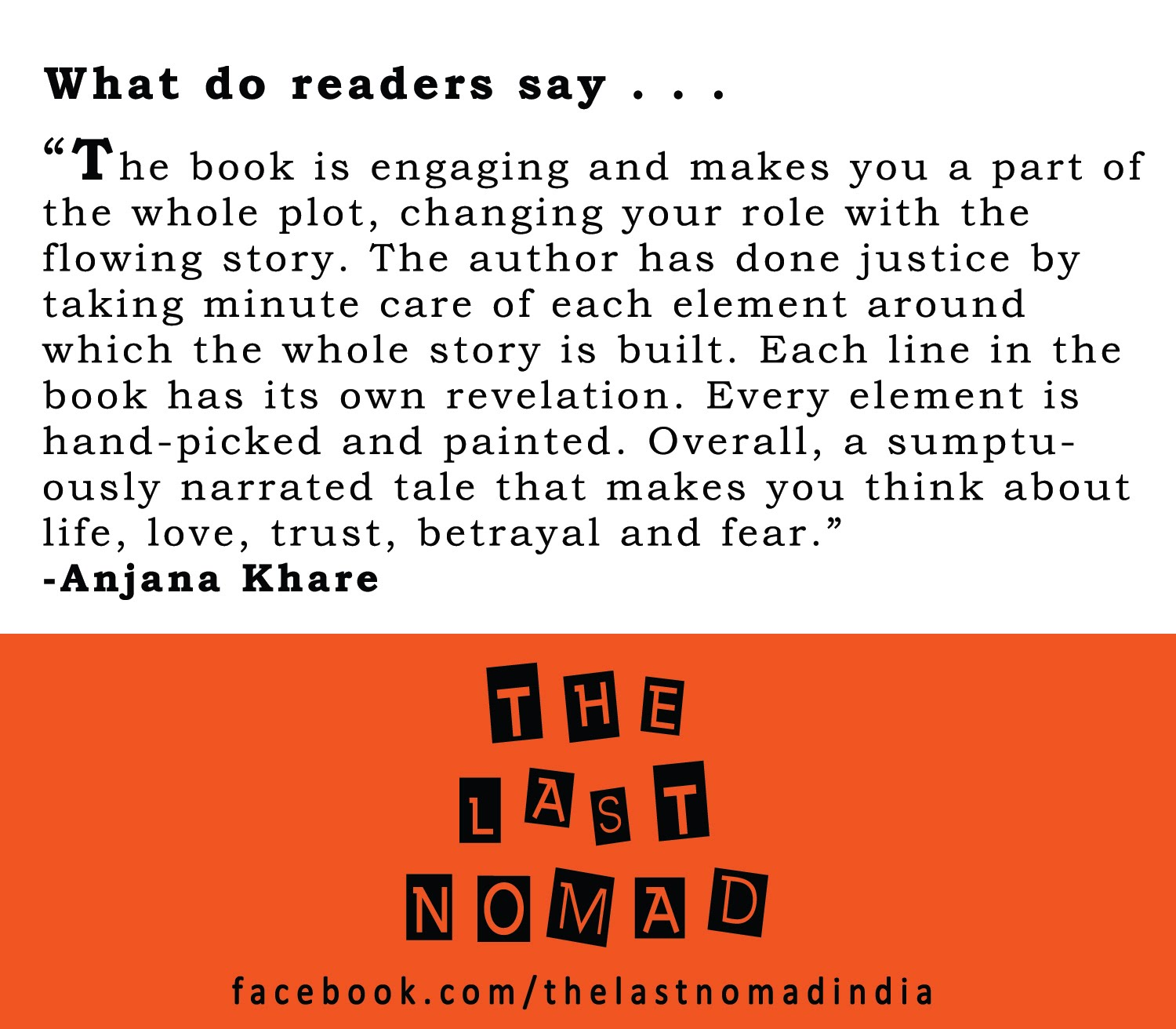 What do readers say . . .
