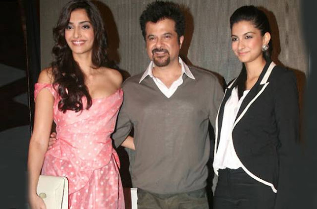 Is there competition between Anil Kapoor and daugthers Rhea, Sonam Kapoor ?