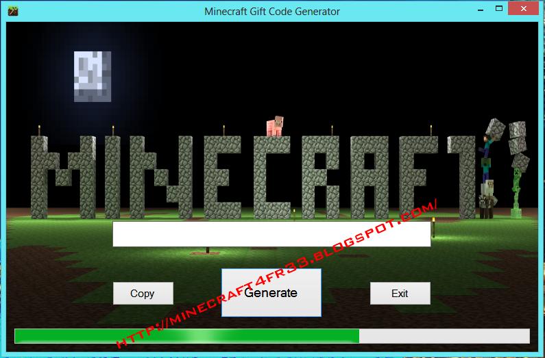 minecraft gift code generator 2013