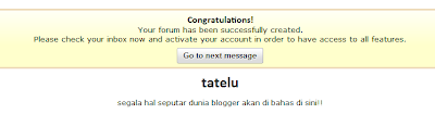Pasang Forum di blog
