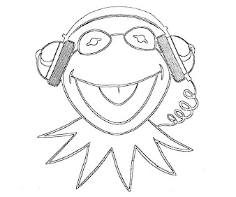#5 The Muppets Coloring Page