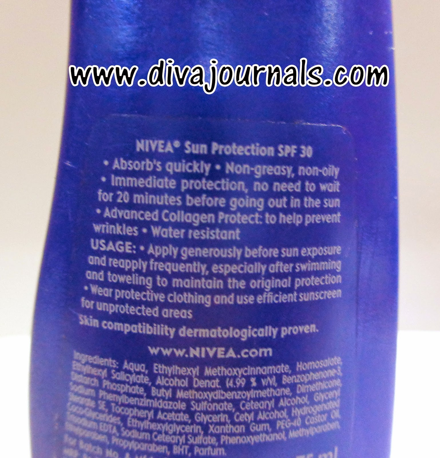 Nivea Sun Moisturising Body Lotion SPF 30++ Review