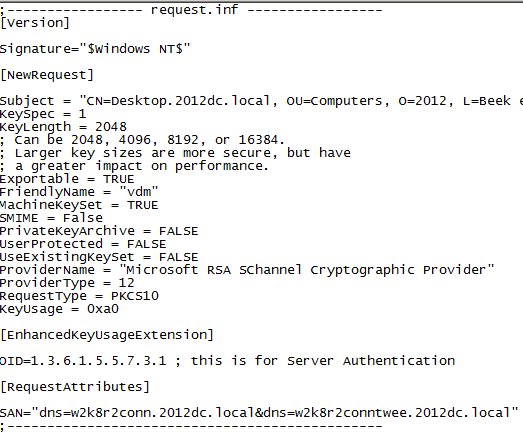 Vmware view certificates and thumbprints man in the middle issue at the bottom of the file you seen the san names add as many as you want and make sure you use a between them yadclub Image collections