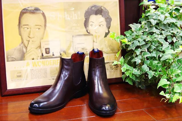 革靴っぽいレインブーツ