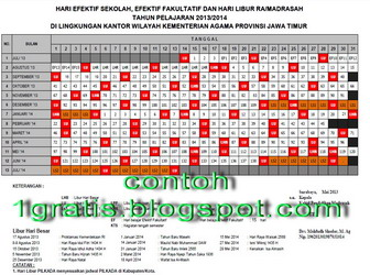 2014 kalender jejak kurukulum from 22 usia to data oleh