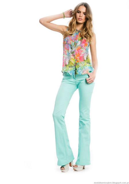 Pantalones oxford gabardina de verano moda 2016 City Argentina. Moda 2016.