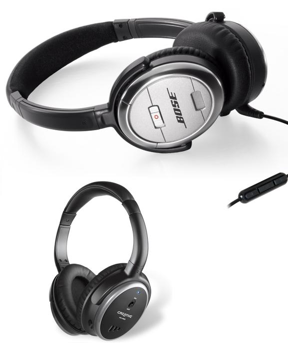 QuietComfort and Creative HN-900 Headphones Review - Quiet Study Spaces