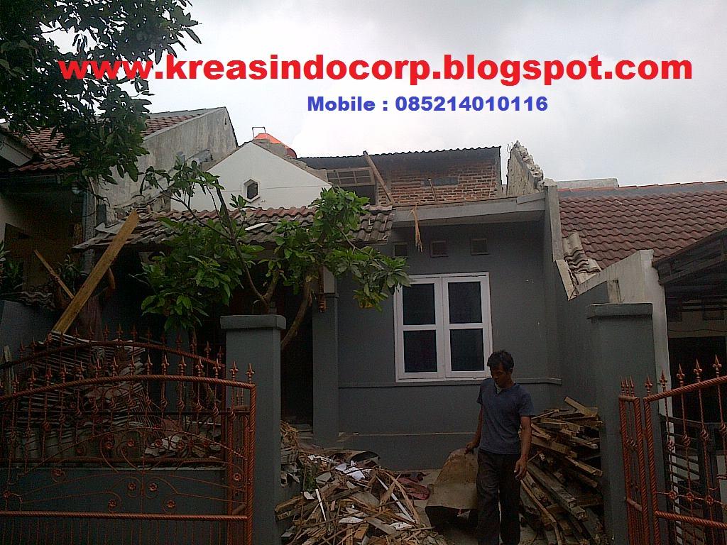 Pemasangan Rangka atap baja ringan di Perumahan permata depok