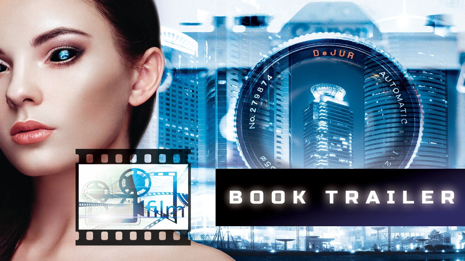 Visualartzi Book Trailer, How To Book Trailer, Girl Cool Eye Effects  Photoshop, How