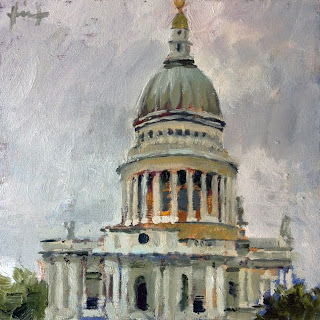 St.Paul's Cathedral on Overcast Day by Liza Hirst