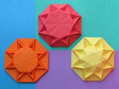 Origami Sole infinito 1, 2 e 3 - Infinity Sun 1, 2 and 3 by Francesco Guarnieri