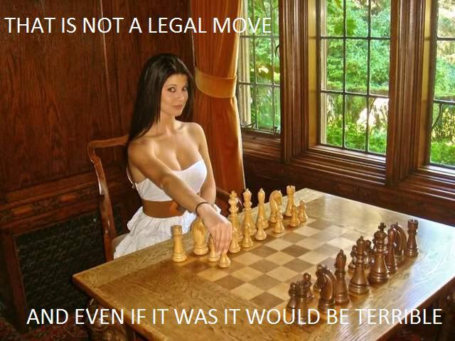That Is Not How You Play Chess Lady