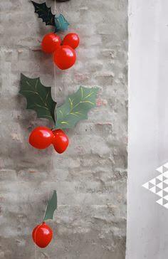 decoracion navidad con globos