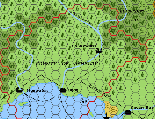 Mystara Alphatia Foresthome Ashbury Map