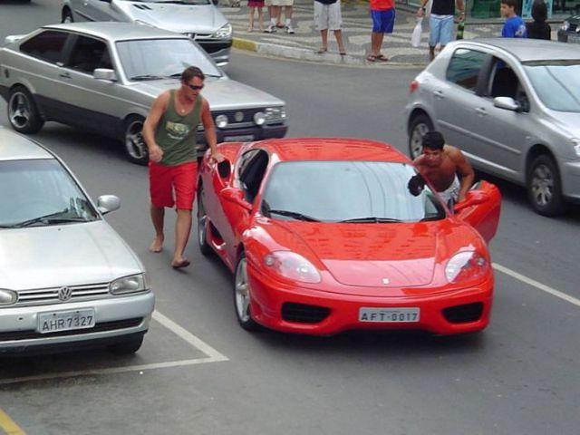 Waiting BD: Run Out of Gas Ferrari Crash