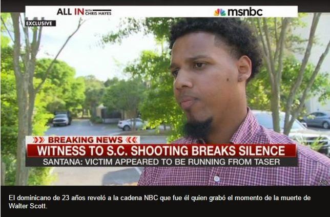 El dominicano que filmó la muerte del moreno tiroteado por la espalda