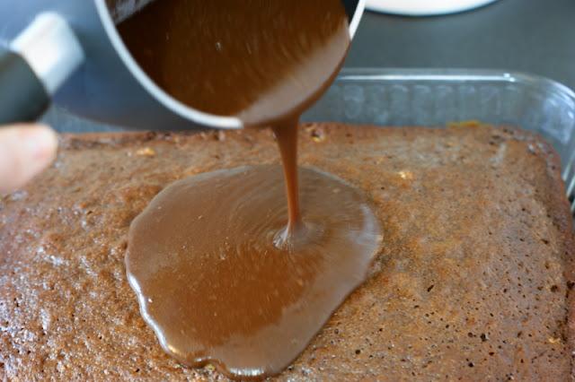 Making Hershey's Chocolate Syrup Cake
