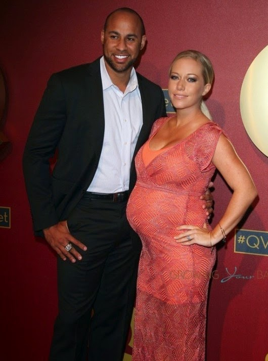 Hank baskett and kendra wilkinson attend 5th annual qvc red carpet