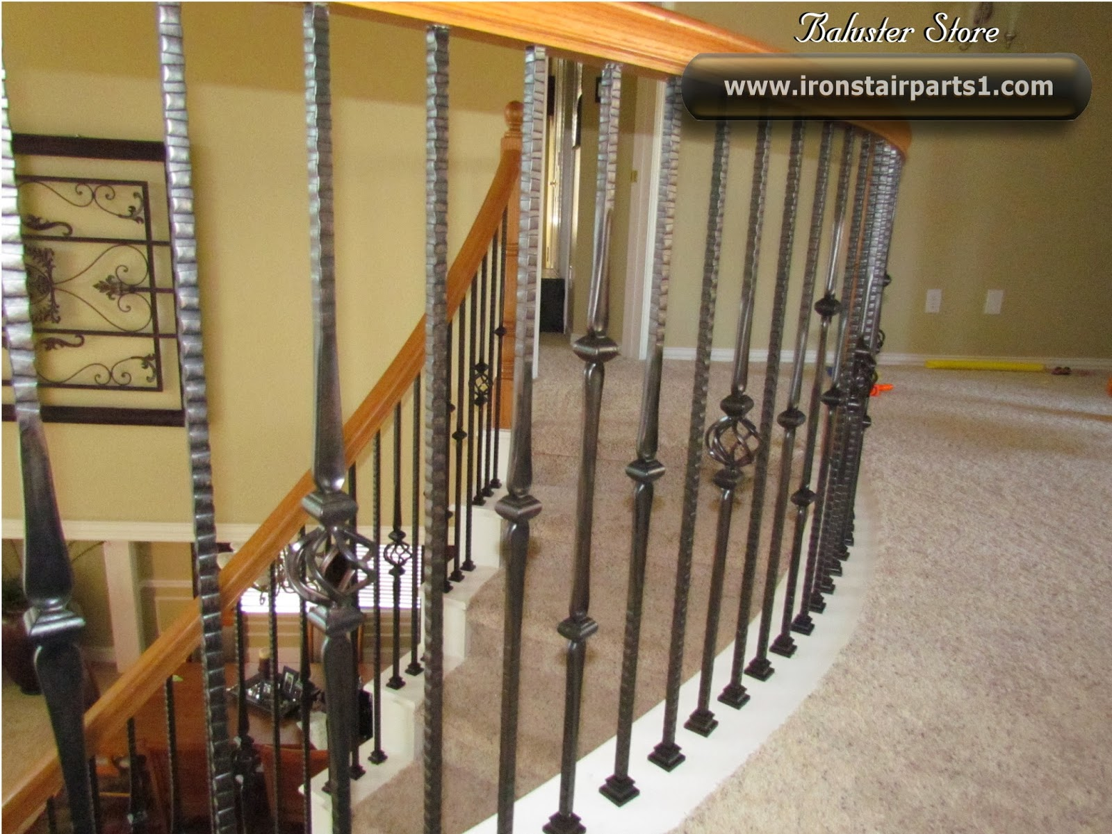 High Quality Powder Coated Iron Balusters