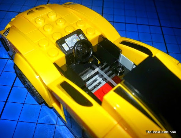 Shiny shiny cockpit of supercar racing car