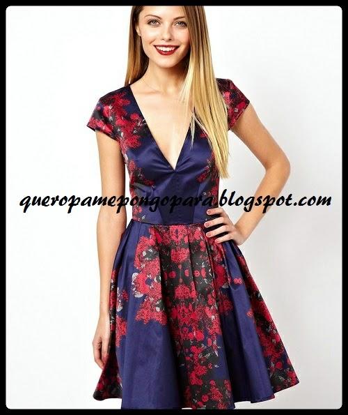 un vestido floreado y bien lucido