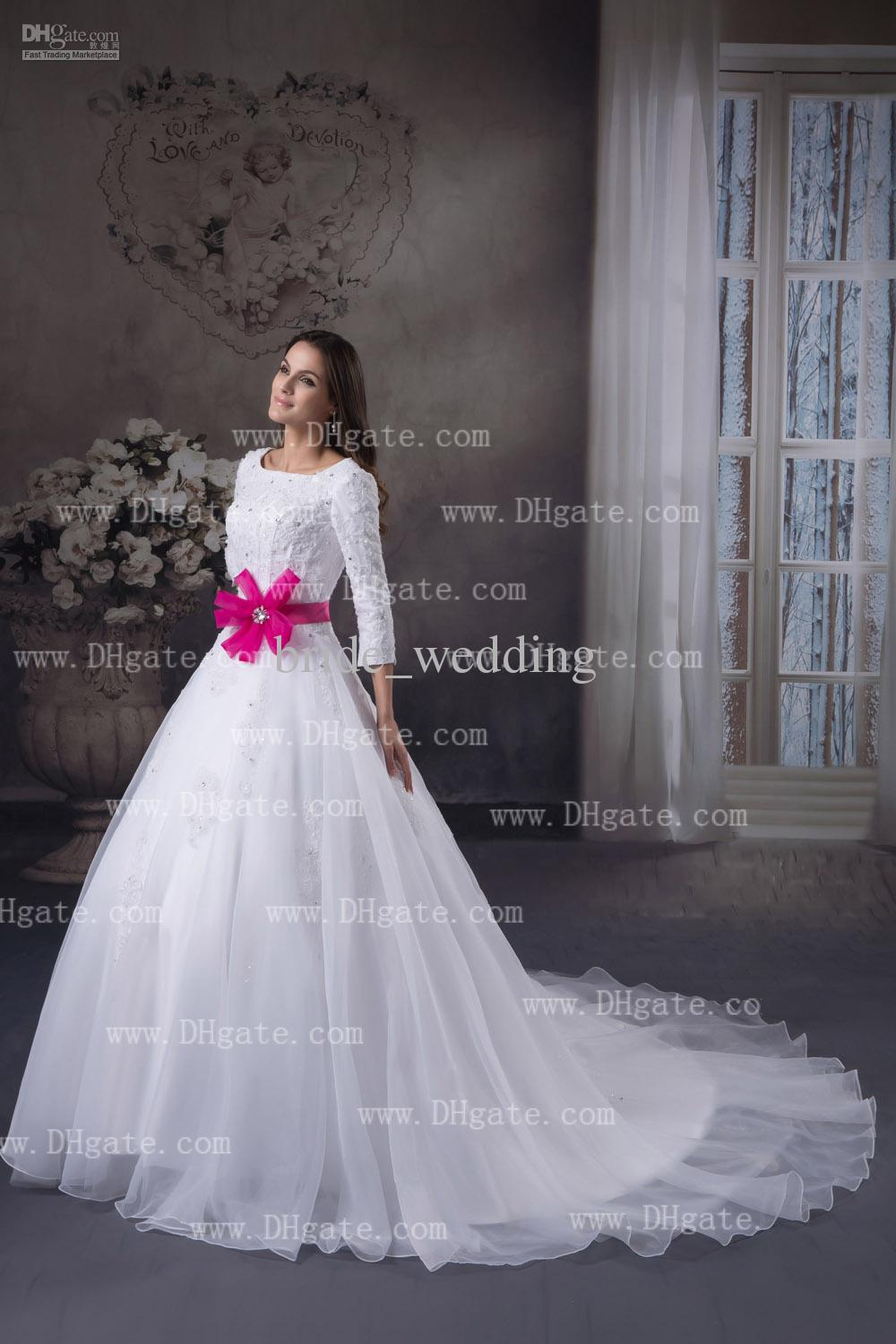 Gallery of wedding dress february 2014 for White with pink wedding dresses