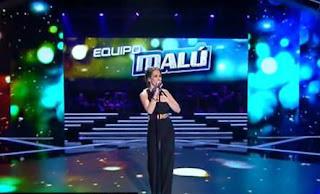 Malú canta con su equipo Deshazte de Mi