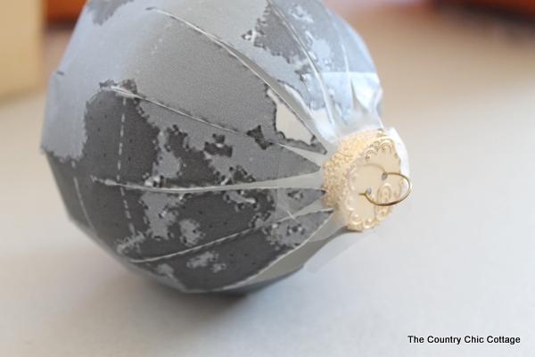 glitter globe ornament