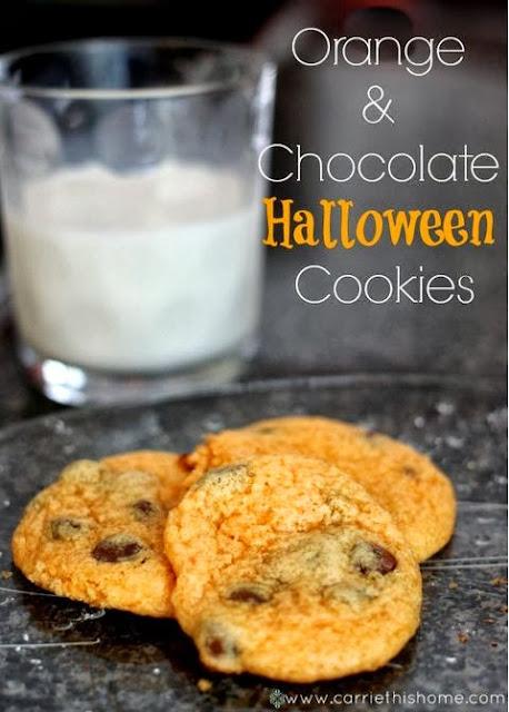 Orange and Chocolate Halloween Cookies