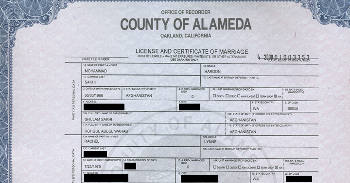 Alameda County Birth Certificate California |Get Vital Record Birth ...
