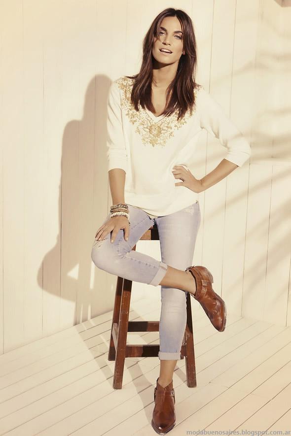 Moda blusas primavera verano 2015 Kevingston Mujer.