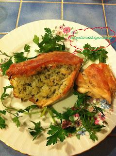 fırında pilavlı tavuk göğsü dolması Tarifi,tavuk gogsu  dolmasi nasil yapilir