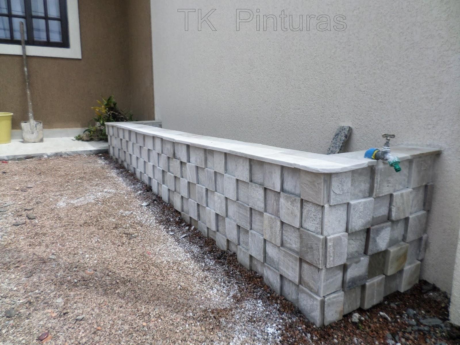 Kleber Renner: Construindo edícula passo a passo #685B4B 1600x1200 Banheiro Com Grafiato
