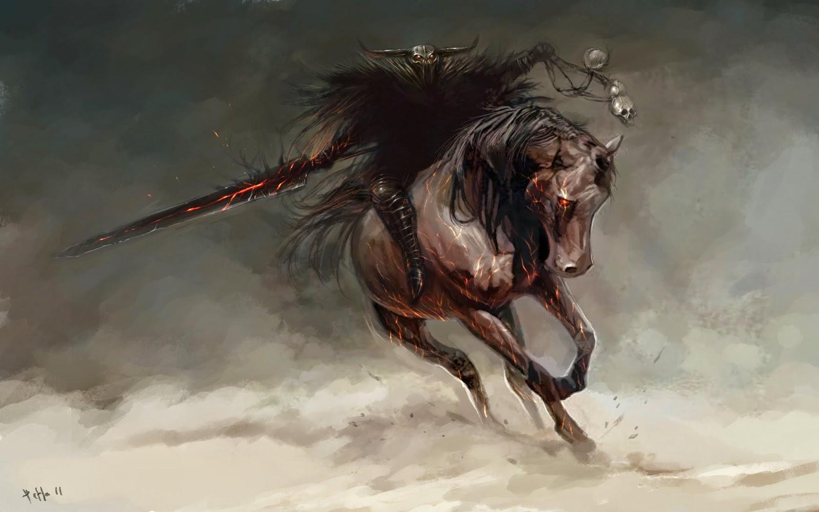 Must see   Wallpaper Horse Deviantart - Dreamy-Fantasy-Horse-Warrior-Artwork-Wallpaper  Image_312933.jpg