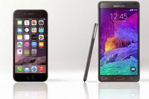 Mau Beli iPhone 6 atau Samsung Galaxy Note 4? Ini Perbandingannya