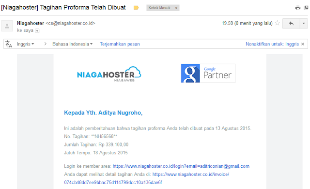 Cara Membeli Sewa Domain dan Hosting di Niagahoster