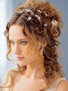 peinado9 Coronas de flores para tu boda
